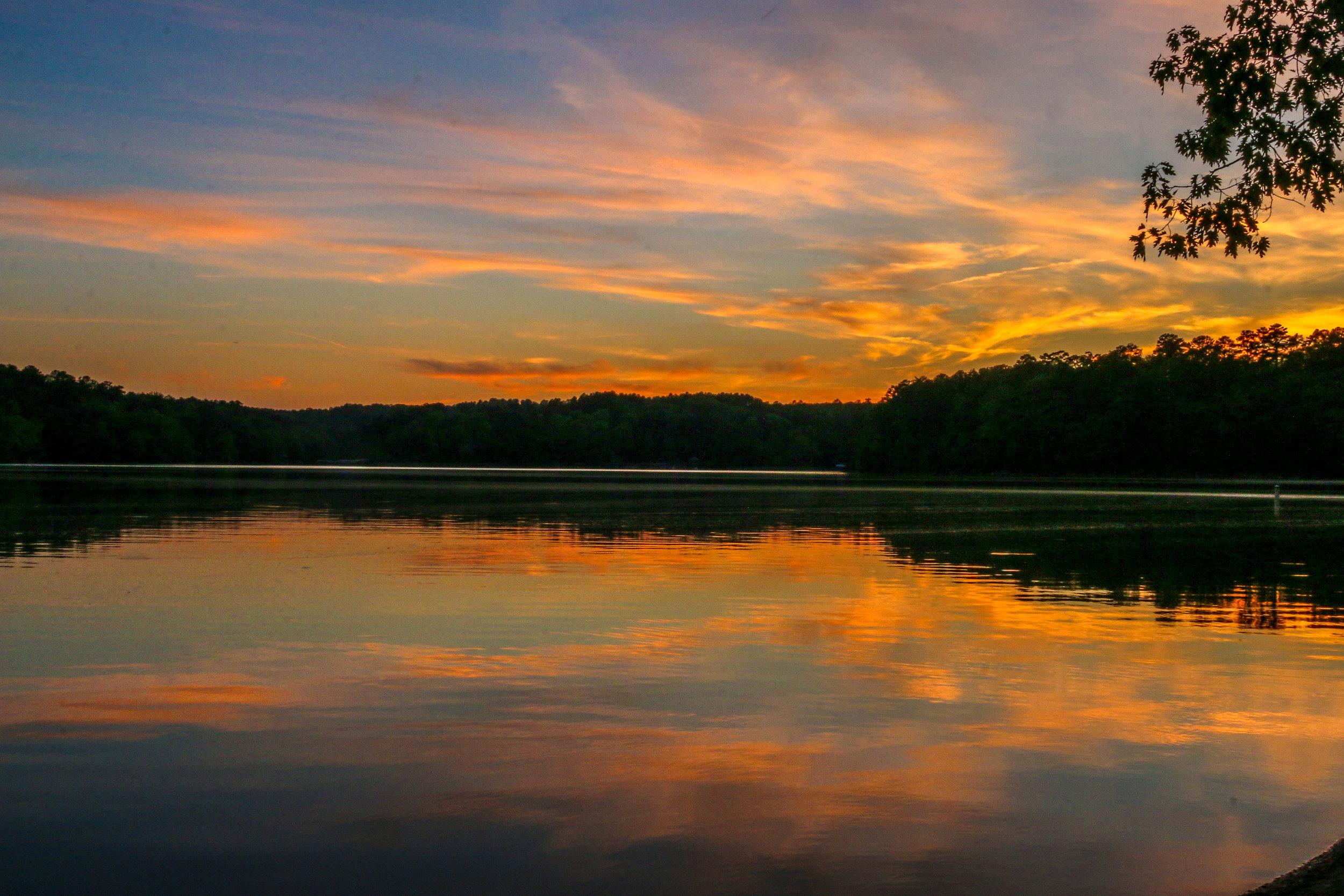 Sunset on Lake Lewis Smith