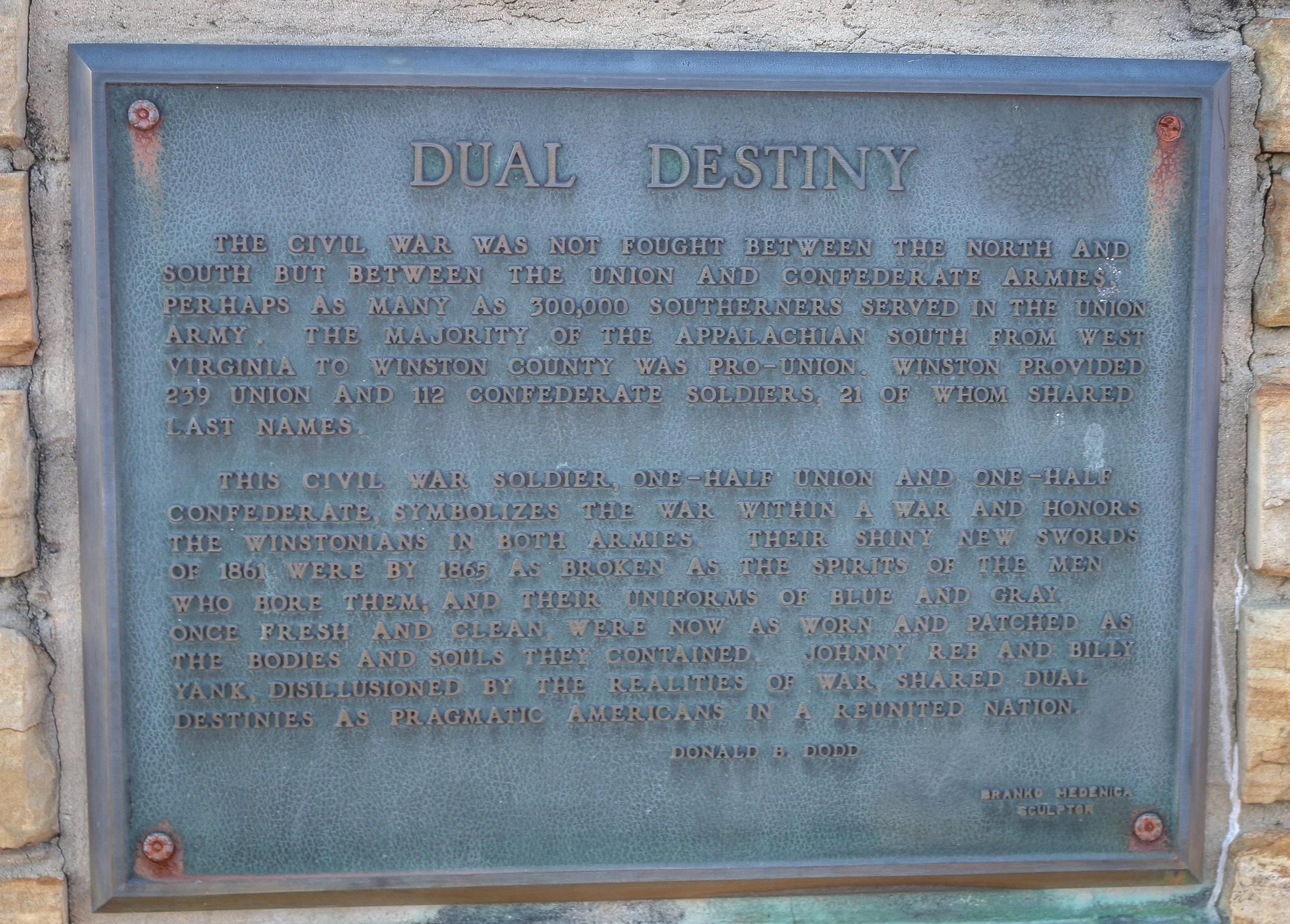 Dual Destinies Free State of Winston Plaque Alabama