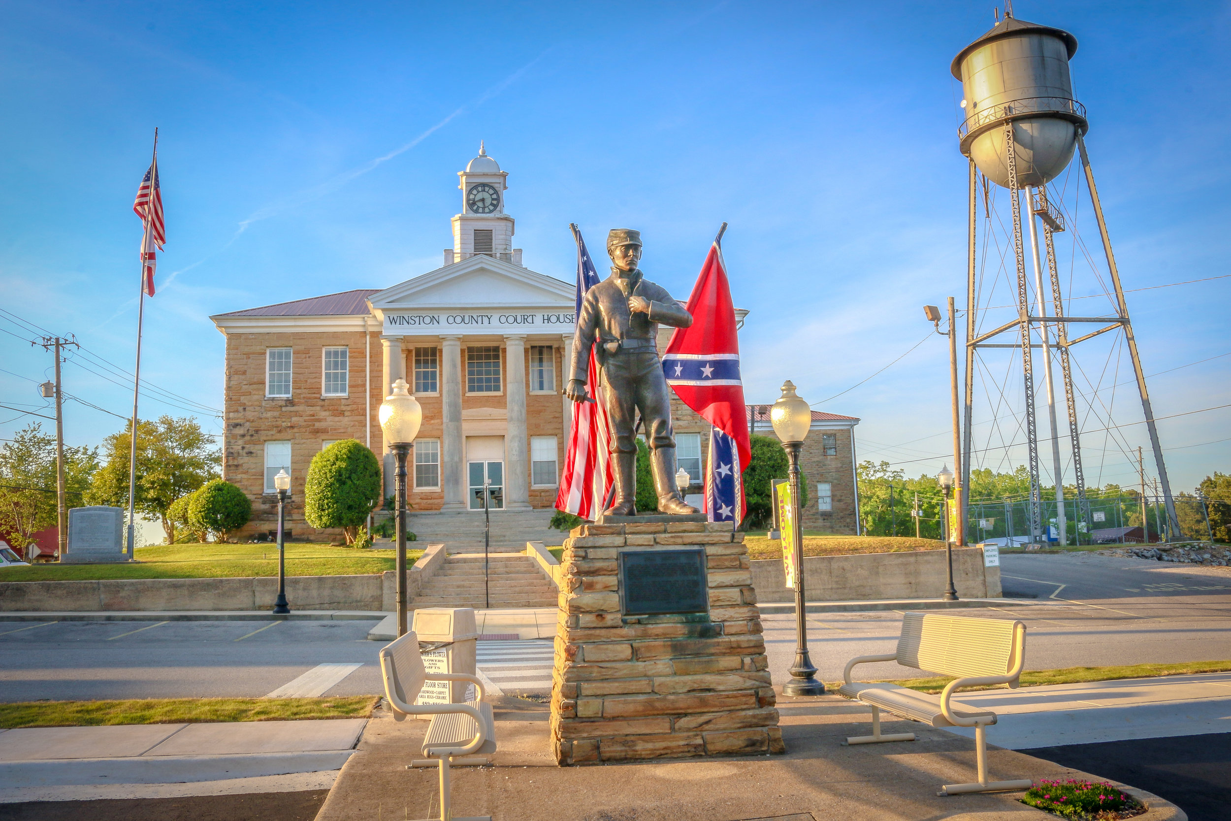 Winston County Courthouse War Memorial Alabama AL