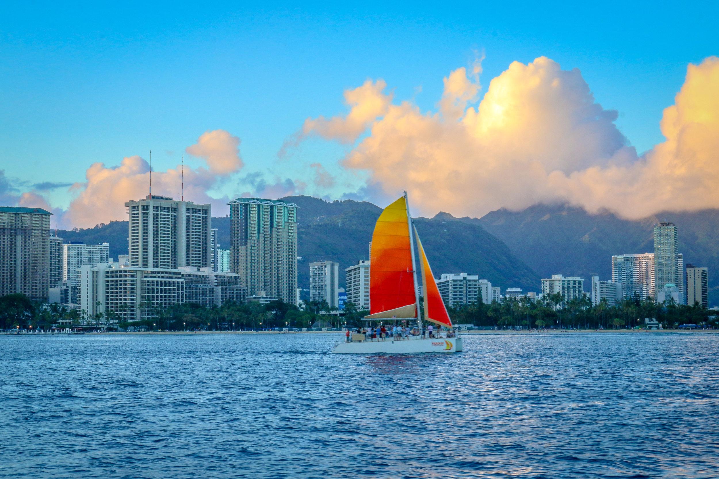 Sunset Sail at Waikiki