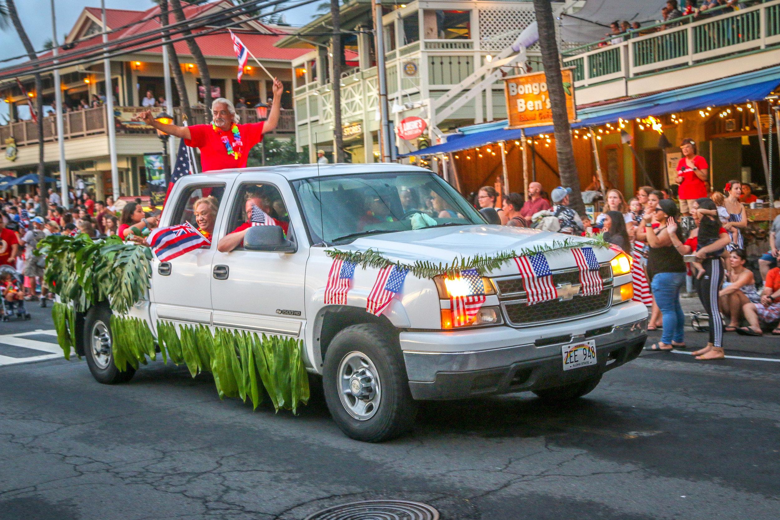 4th of July Parade Kailua Kona Hawaii HI photos 2019