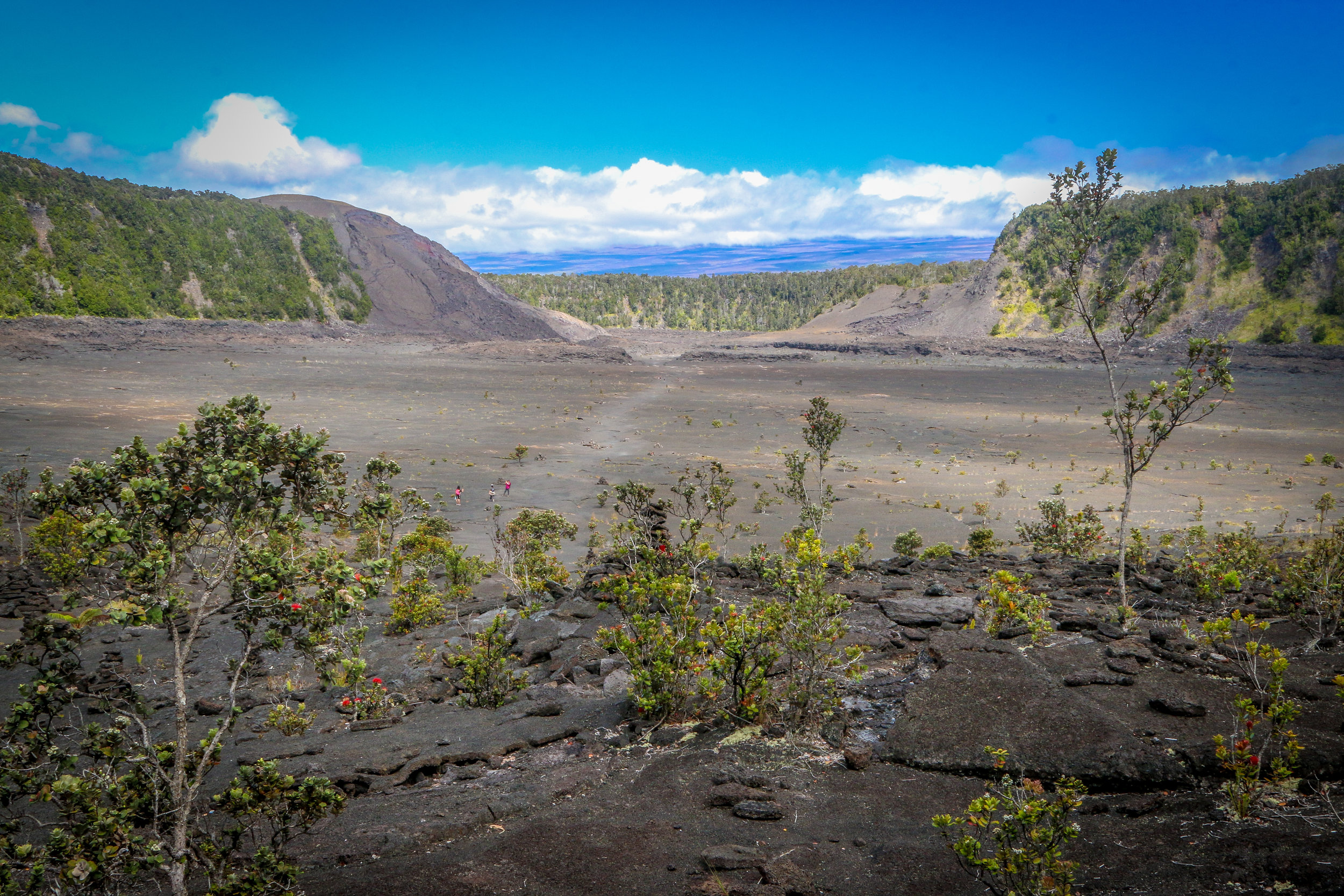 On the Kilauea Iki Trail - Inside the Crater
