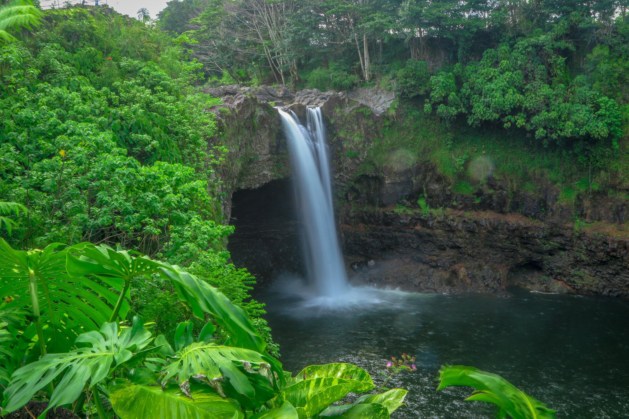 Hawaii HI Big Island Photos Photography Rainbow Falls