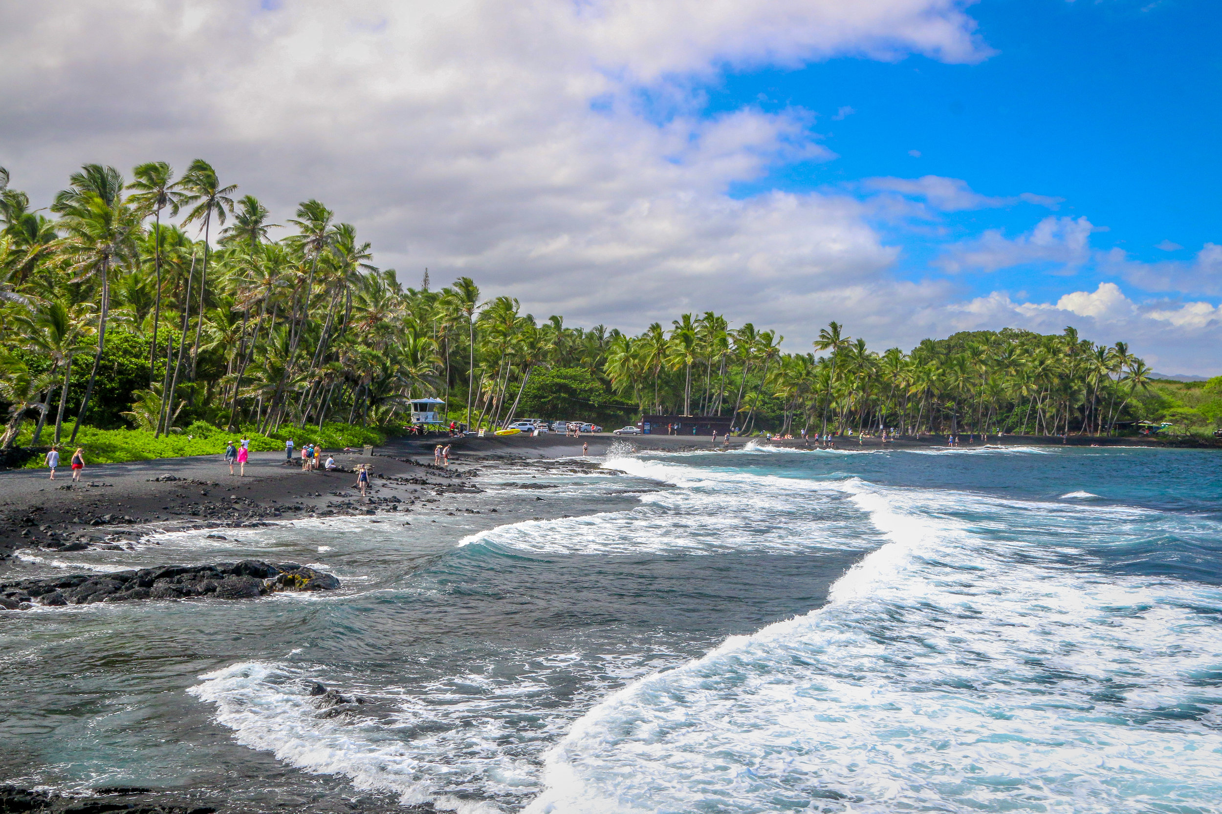 Hawaii HI Big Island Photos Photography black sand beach