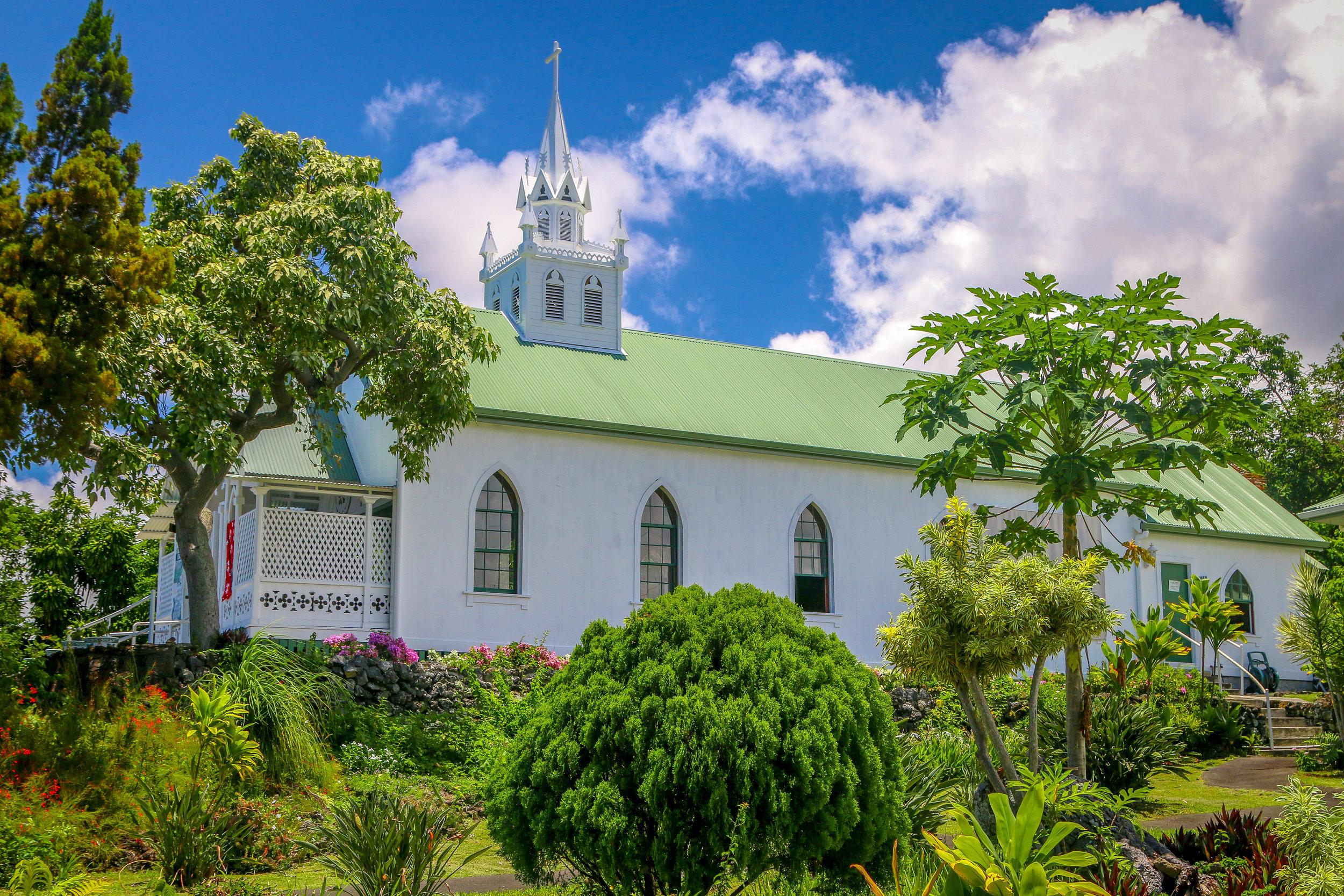 Hawaii HI Big Island Photos Photography painted church