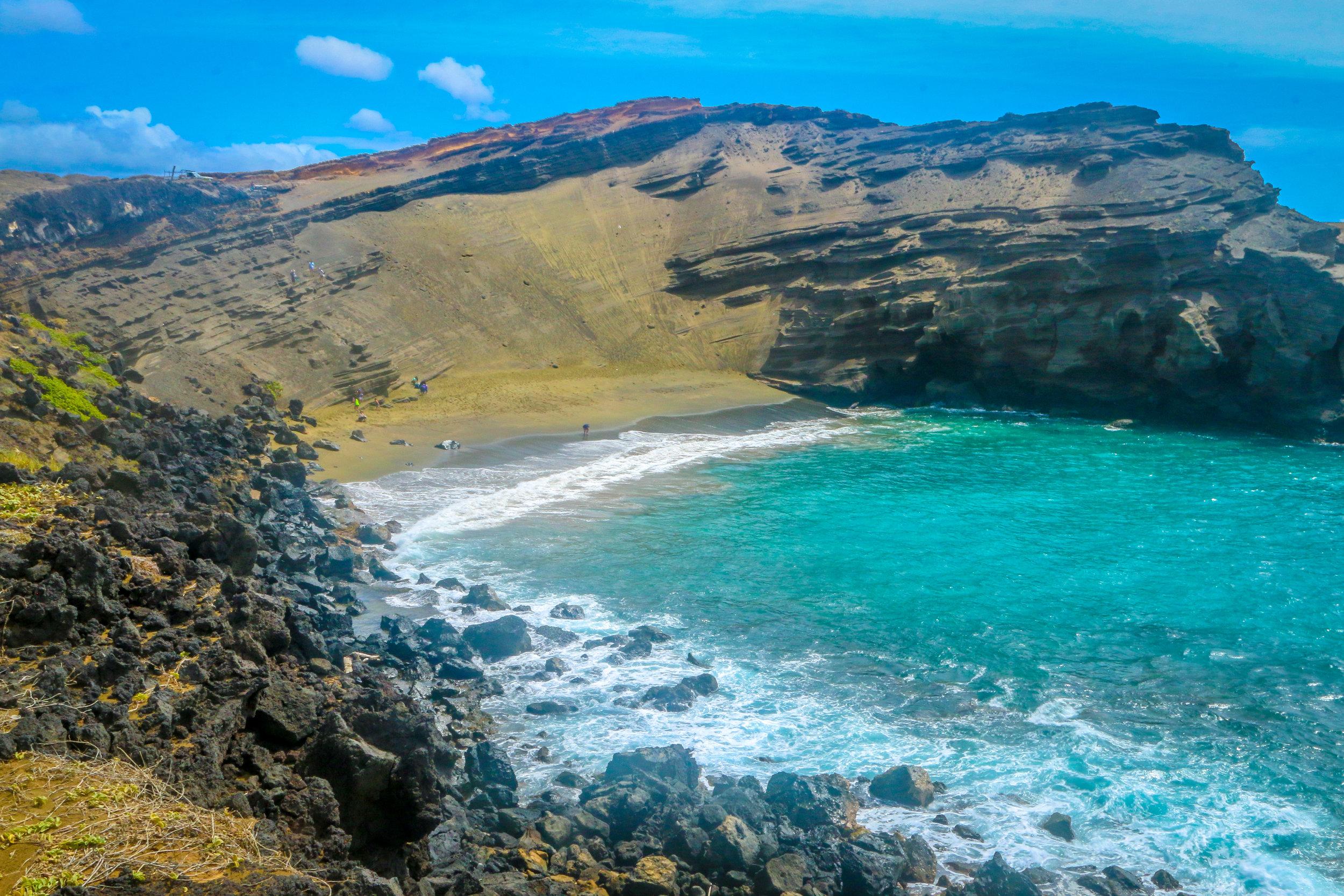 Hawaii HI Big Island Photos Photography Green Sand Beach