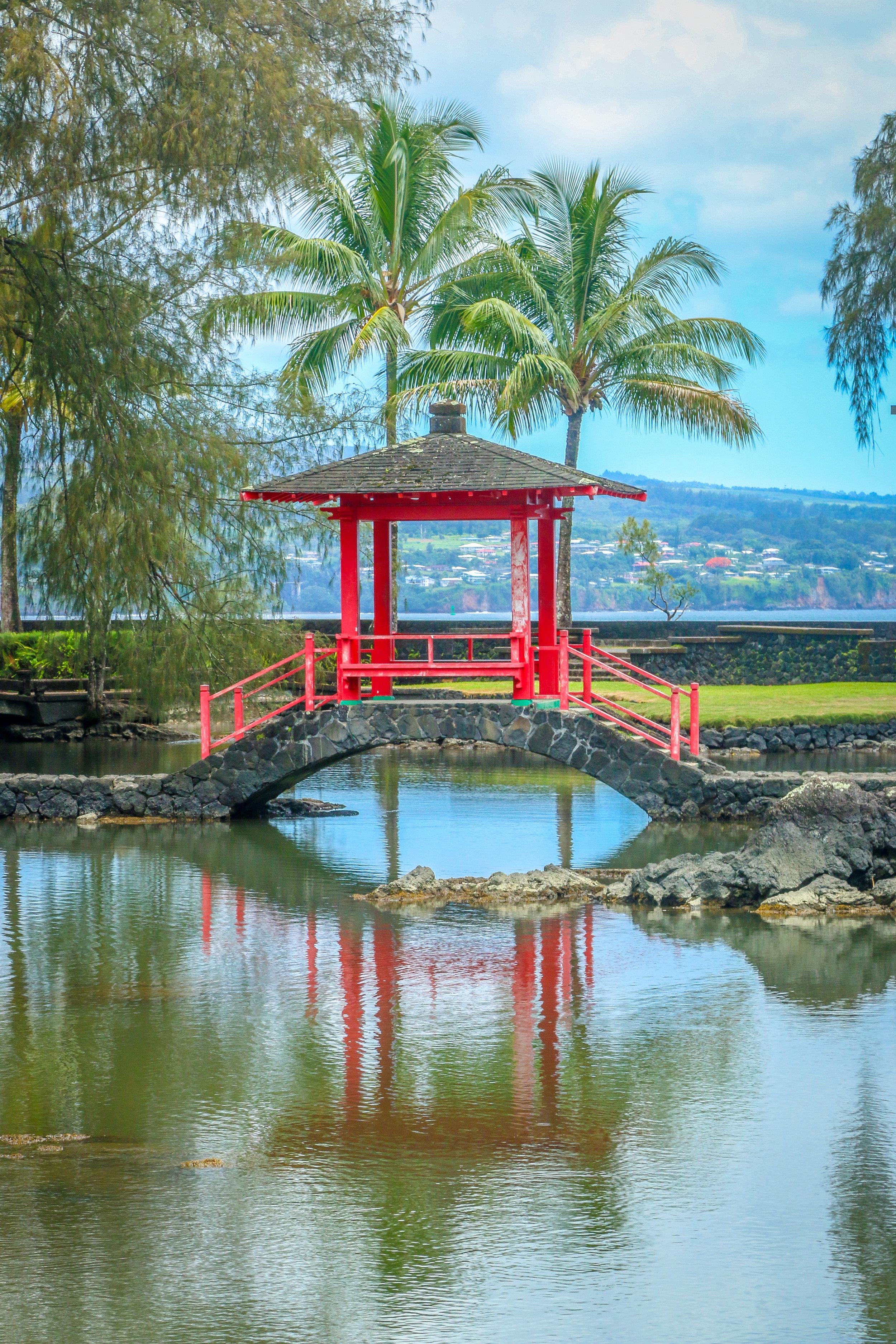 Hawaii HI Big Island Photos Photography Japanese Arch Hilo