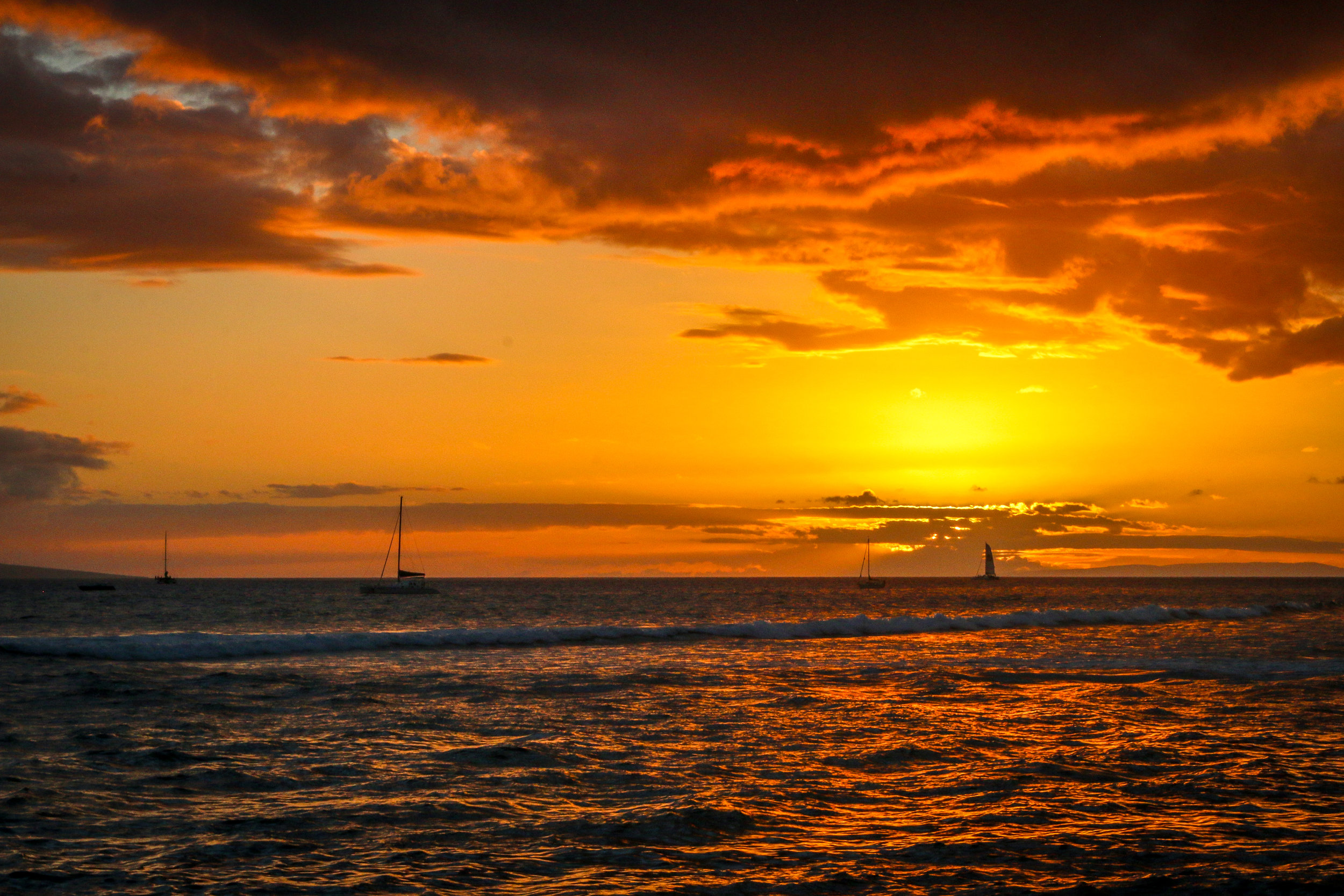 Maui Hawaii HI photos photography Sunset from Lahaina
