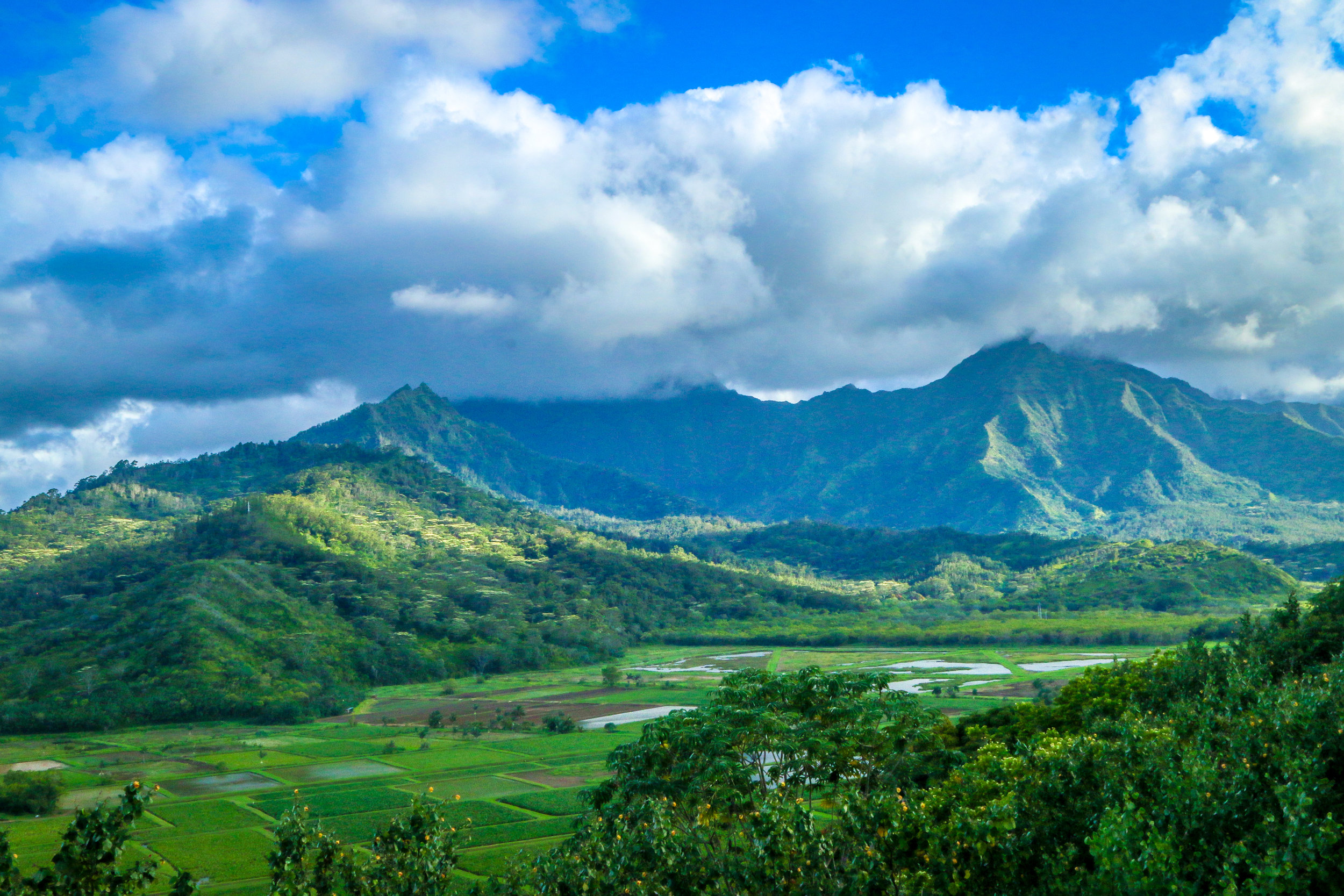 Kauai Hawaii HI photos photography mountains farms