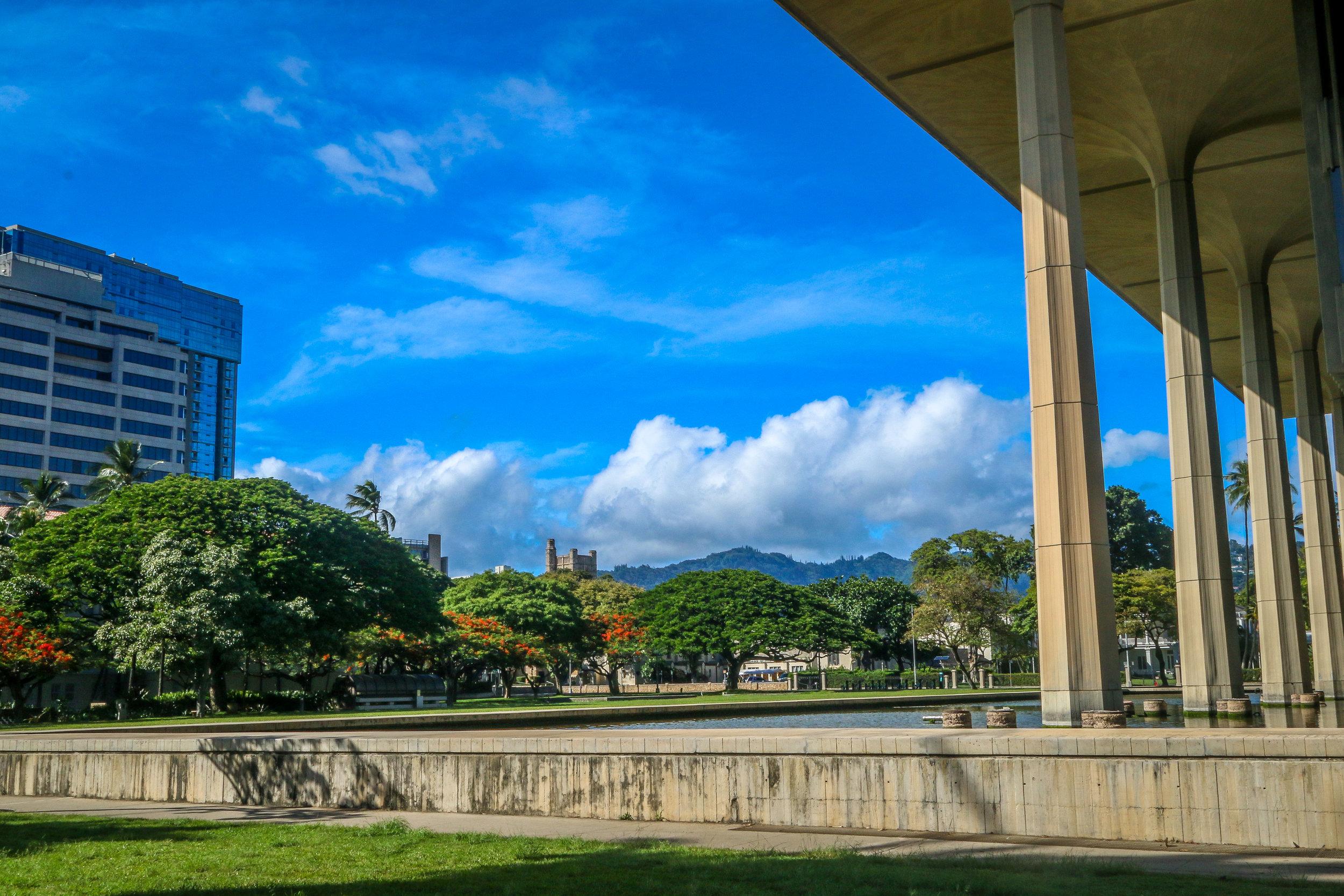 Oahu Hawaii HI photos photography State Capitol Honolulu