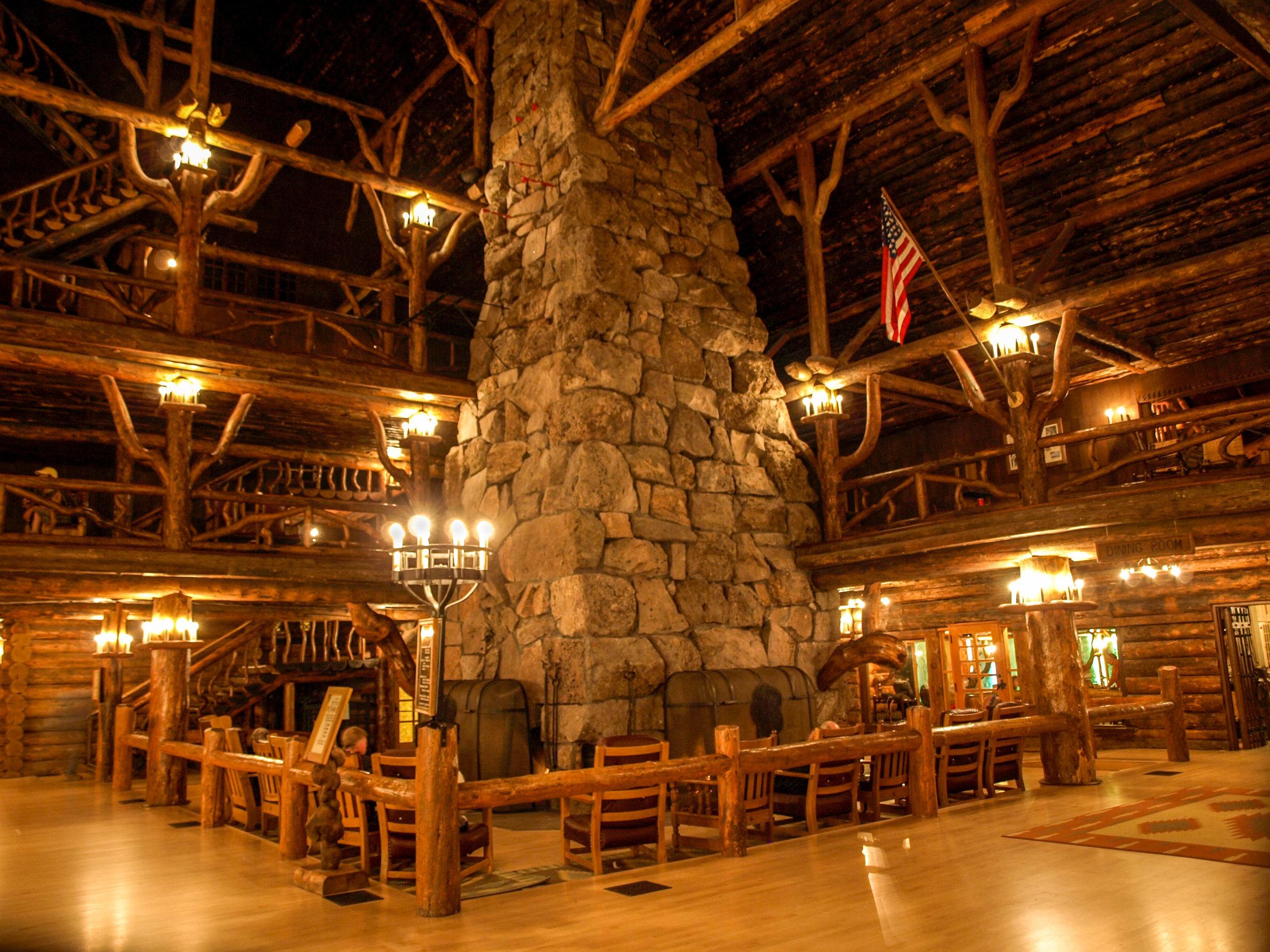 The Fireplace at Old Faithful Inn