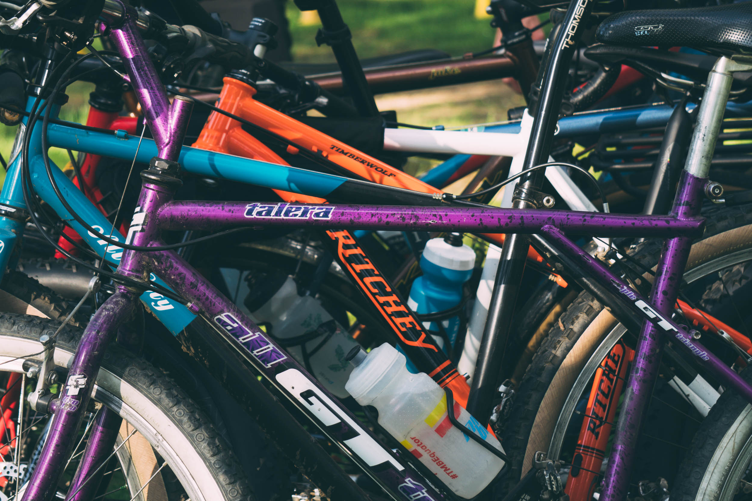 Bike stack. The new Ritchey Timberwolf is looking good!