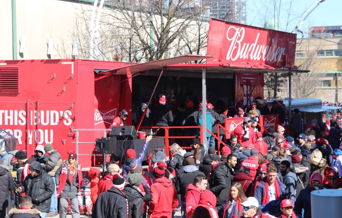 Toronto FC Concourse With Budweiser