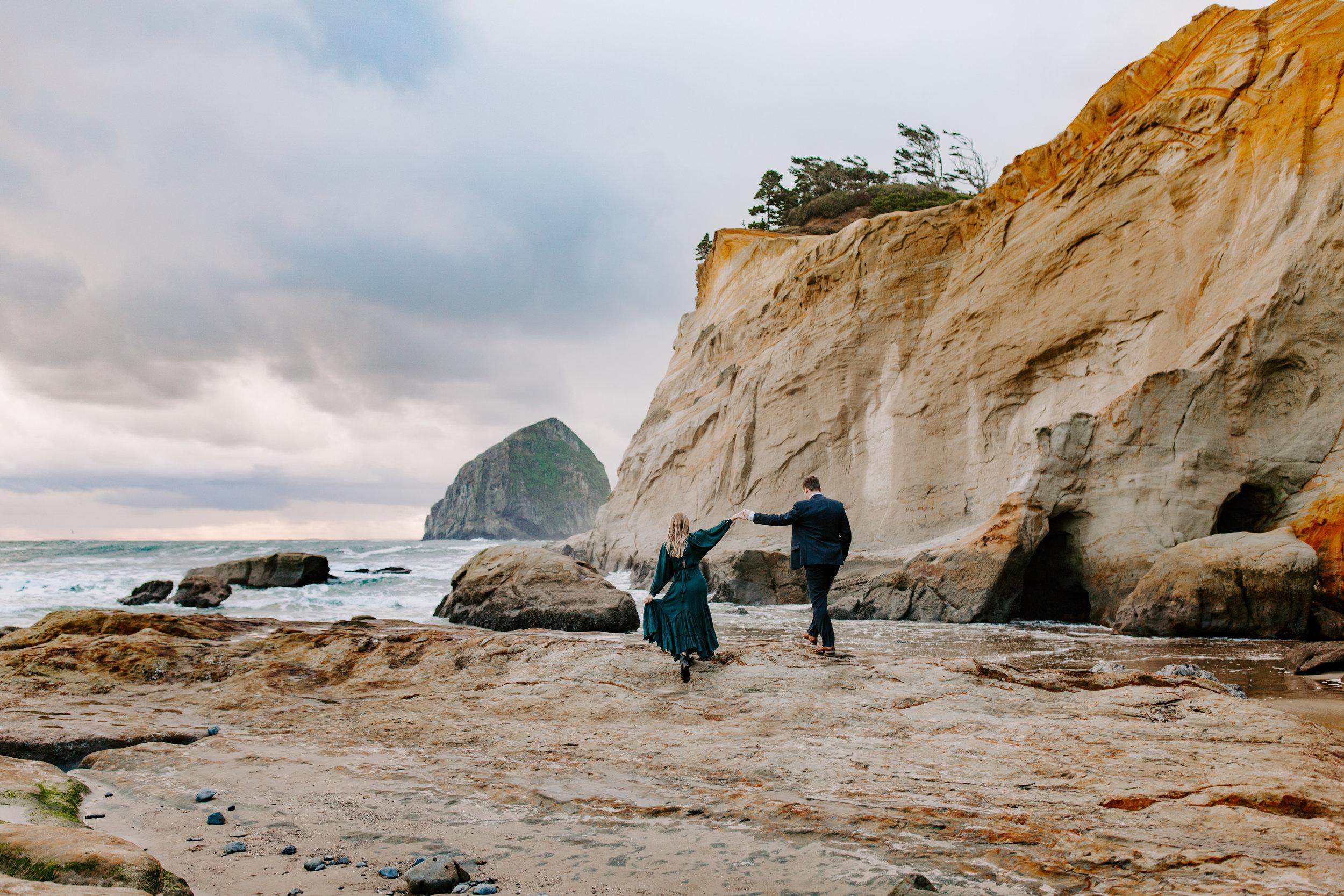 Rustic Bloom Photography | Oregon Coast Engagement Session | Pacific City, Oregon