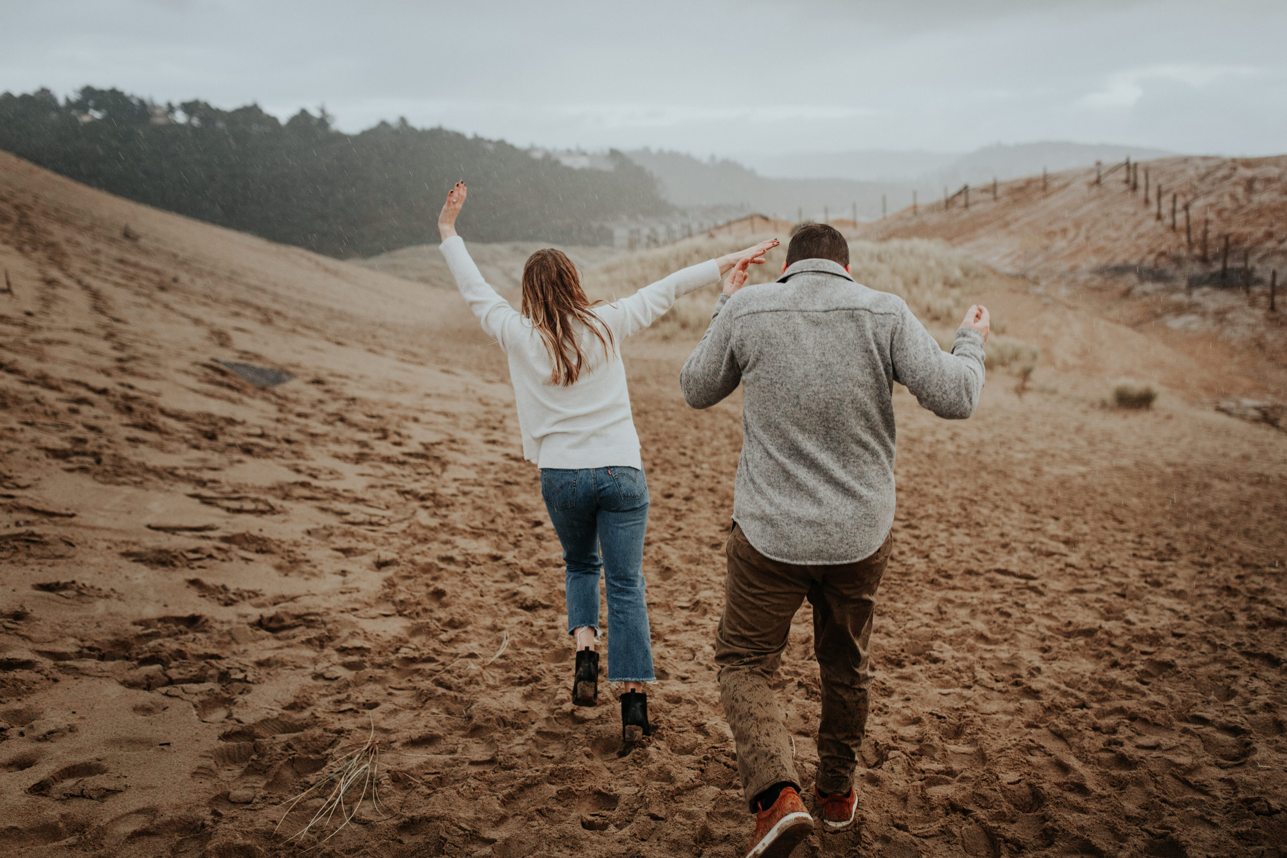 Rustic Bloom Photography   Oregon Wedding Photographer   Engagement session in the rain