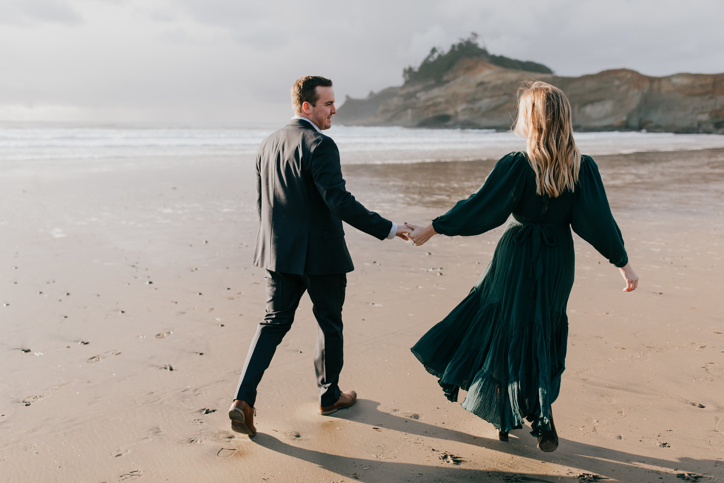 Rustic Bloom Photography | Engagement Style Inspiration | Pacific City, Oregon
