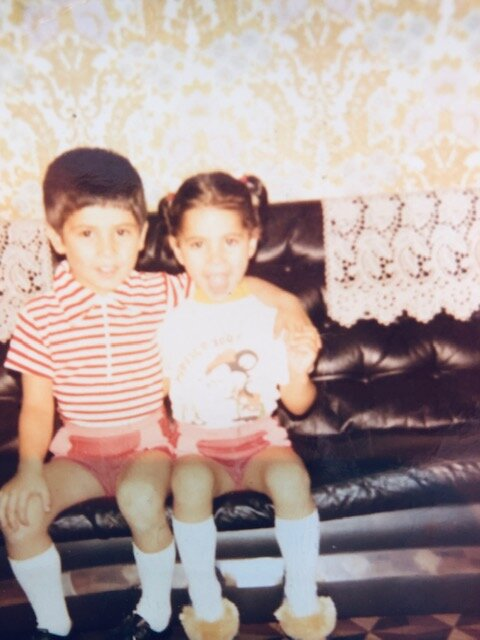 Özgen with her brother— circa 1970s