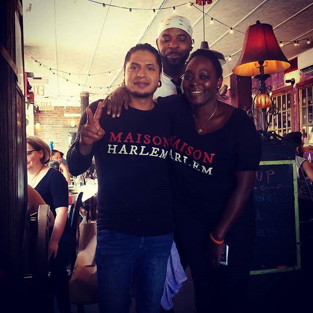 Maison Harlem Happy Team for a beautiful day in Harlem. Come join us for Brunch. #eggbenedicte #latte #harlemlove #beautifullpeople @maisonharlem