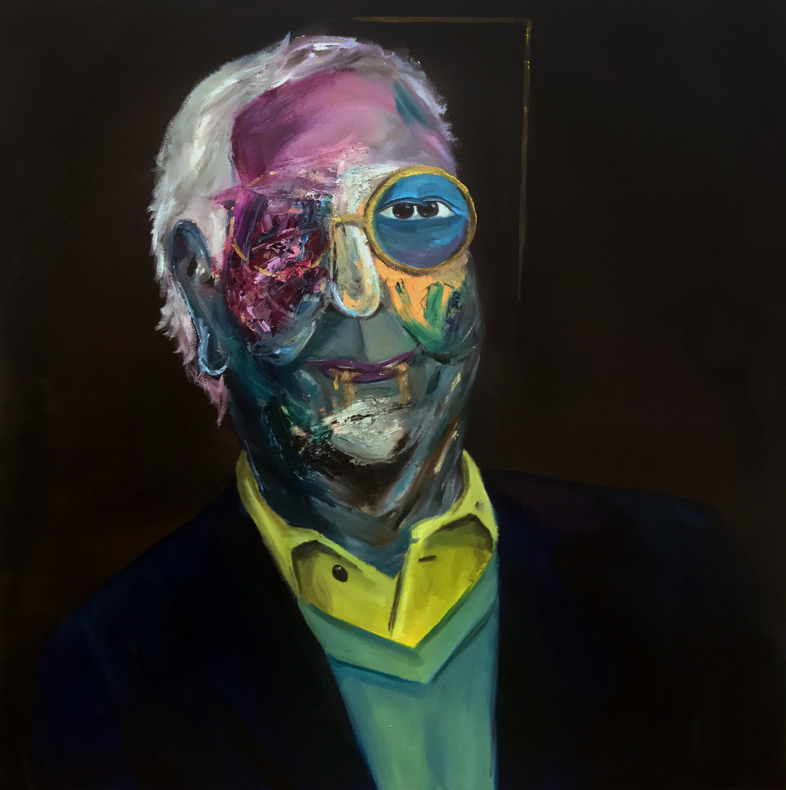 Deconstructed Portrait of Mitch McConnell.