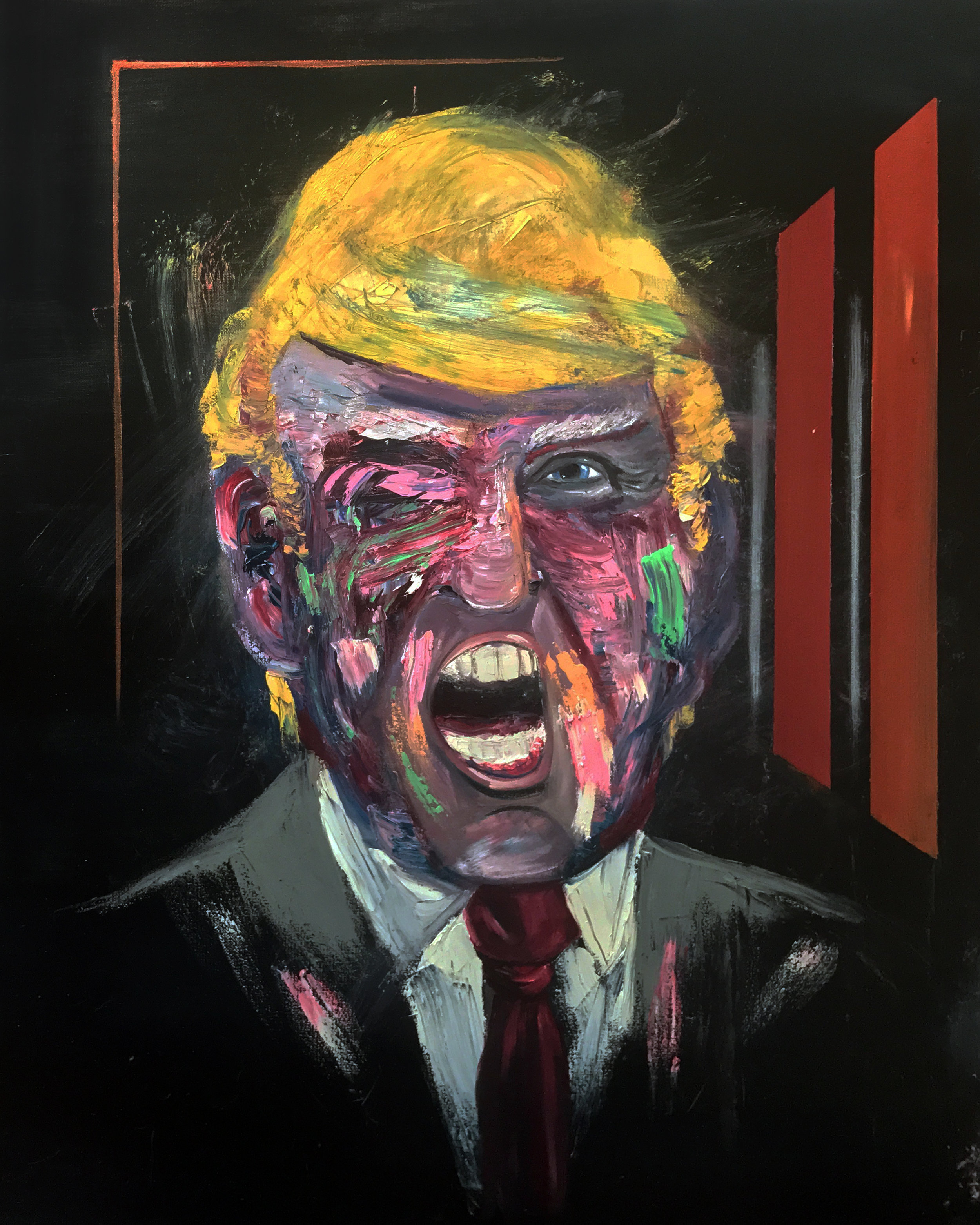 Deconstructed Portrait of Donald Trump.