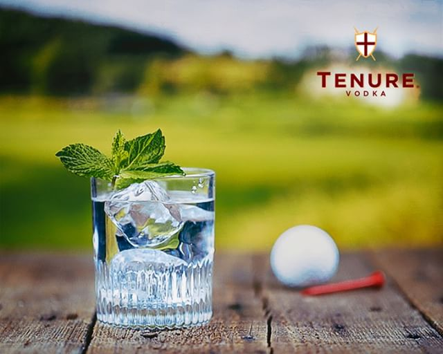 The most important part of the day: tee time. . . #TenureEngland #Tenure #Vodka
