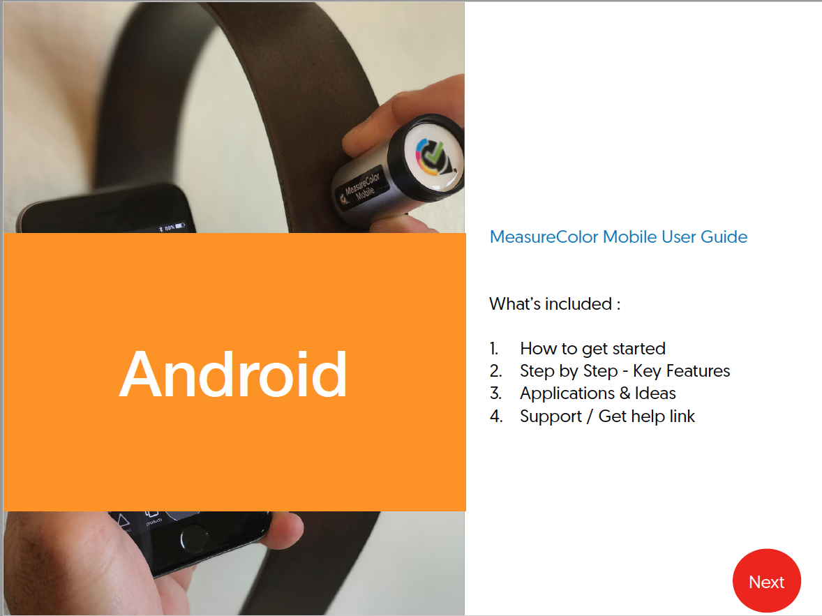 Android Users Guide - Click here to download