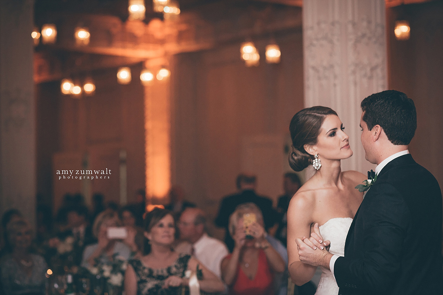 Dallas Scottish Rite Library and Museum wedding crystal ballroom first dance