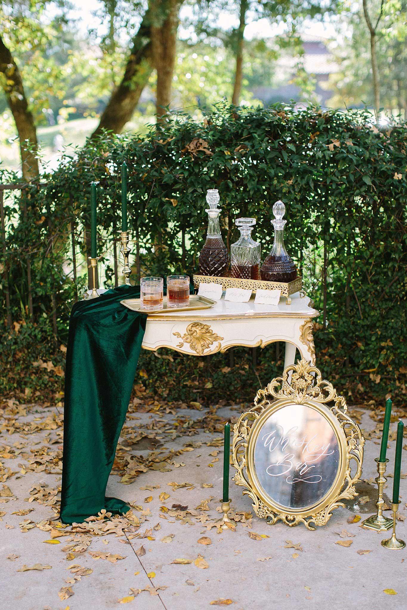 aristide mansfield wedding whiskey bar