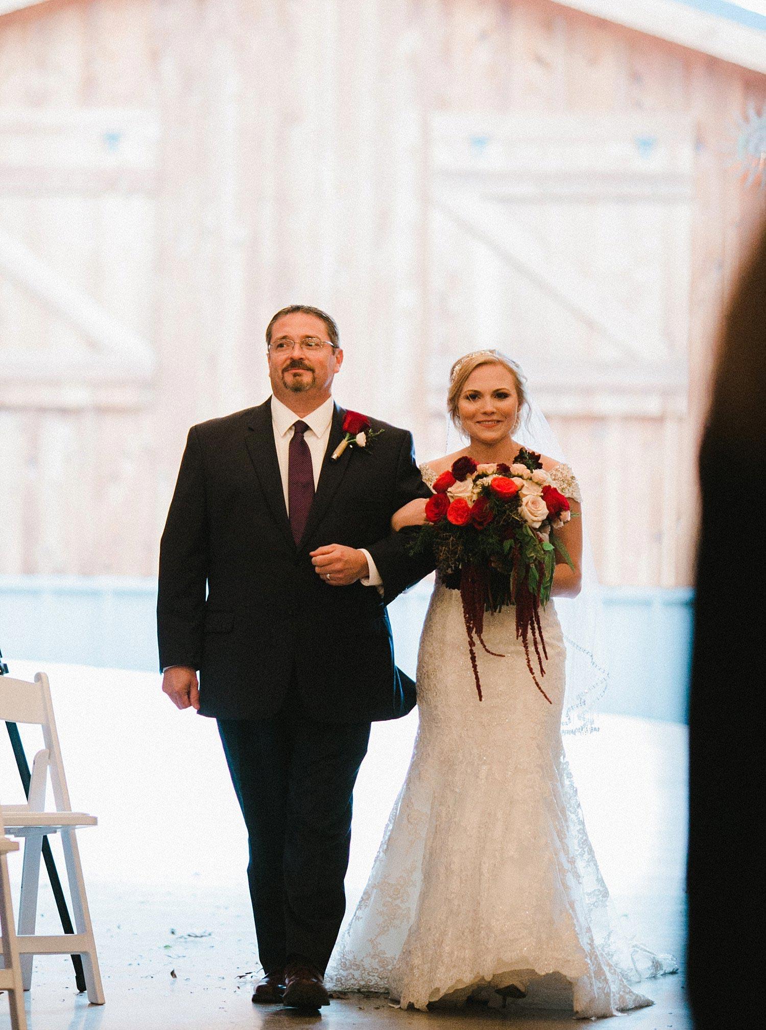 Hollow Hill Farm Event Center Wedding bridal entrance