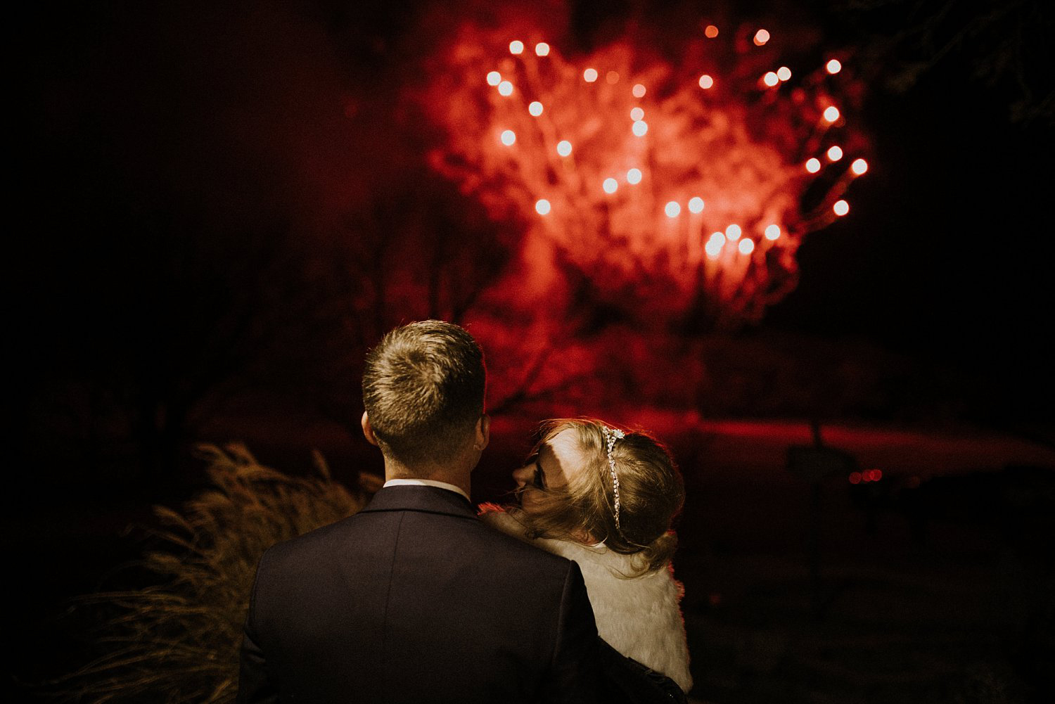 Hollow Hill Event Center Wedding Firework show by pyrotex