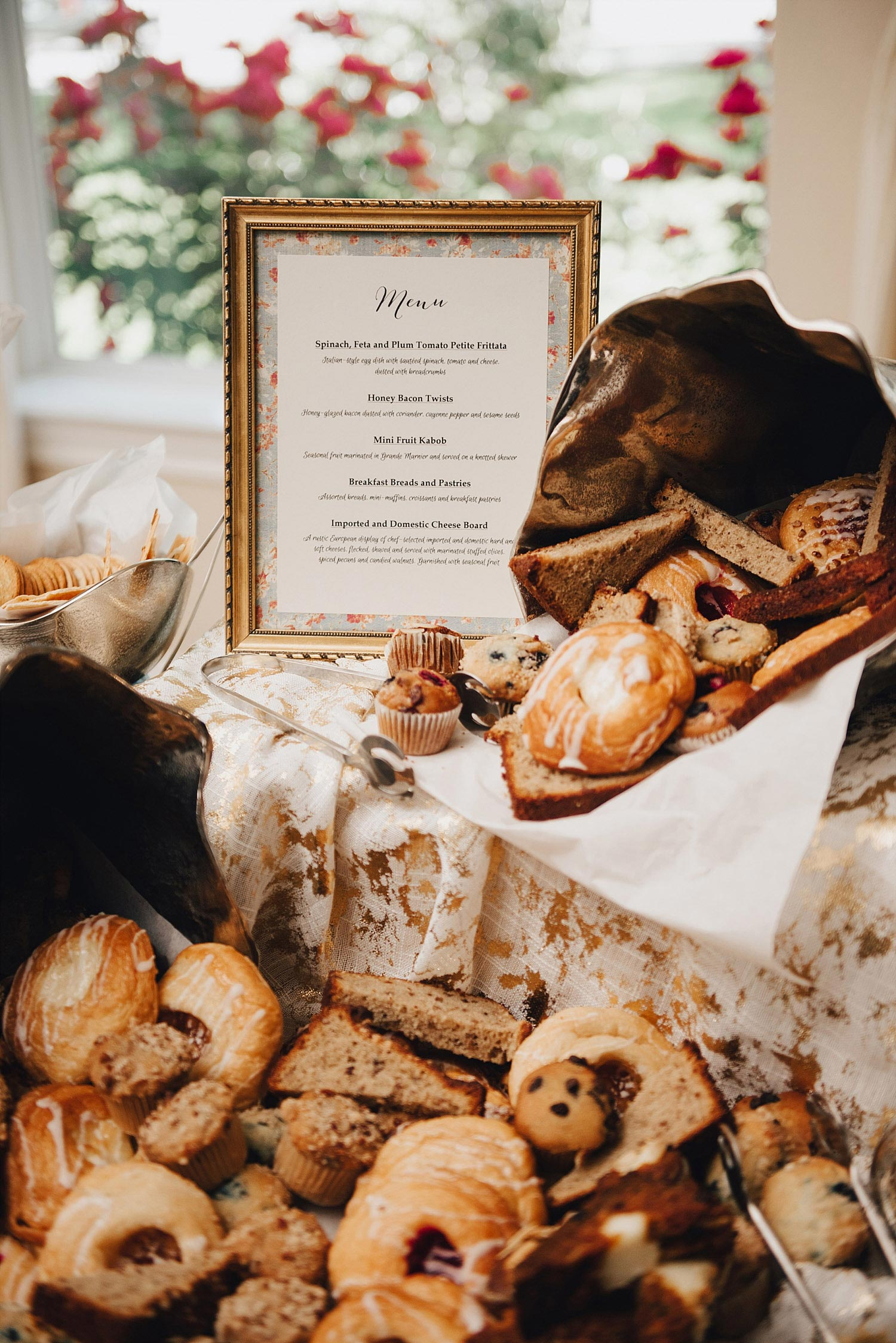 The Orchard Azle wedding brunch food sign