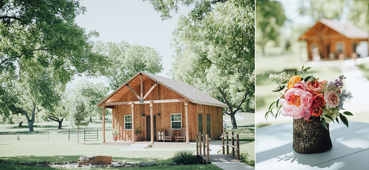 The Orchard Azle wedding groom's cabin
