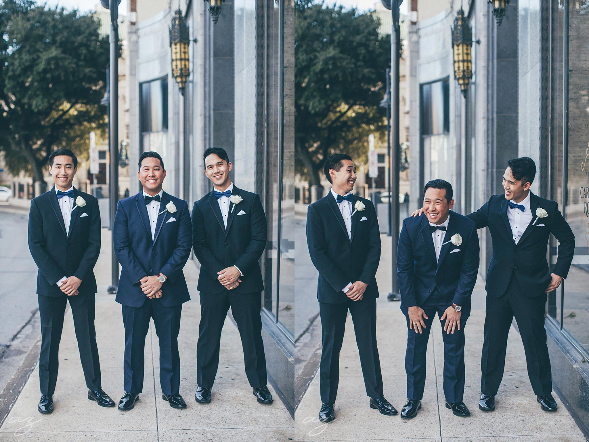 groom and groomsmen outside the Carlisle Room
