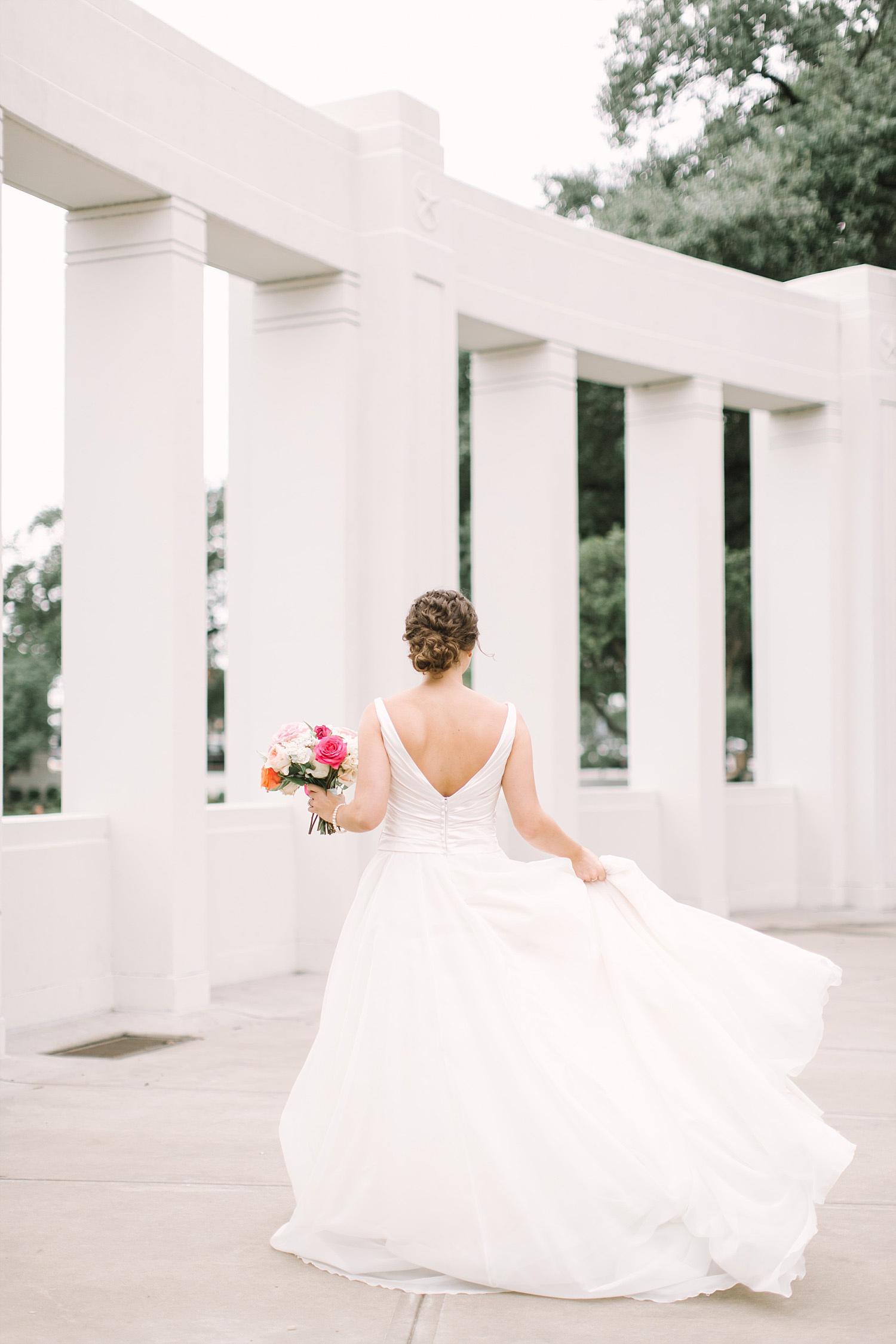 Bridal portrait at John Kennedy memorial