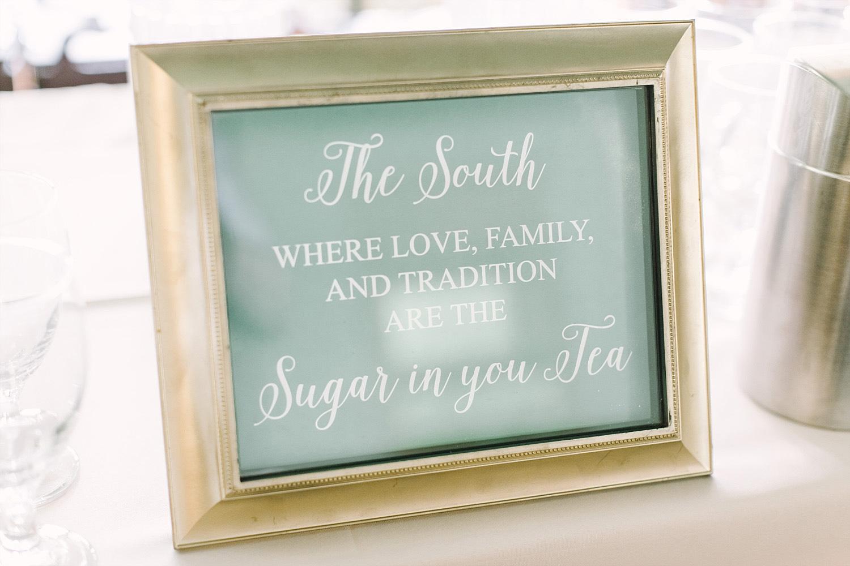Southern tea signage