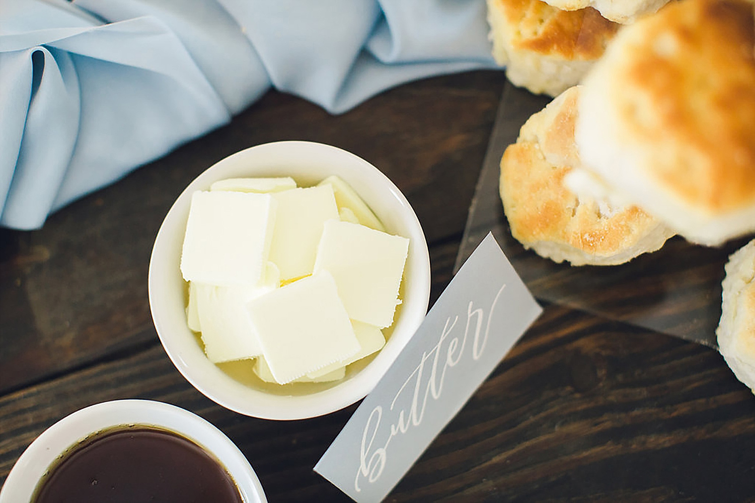 Butter for Southern wedding biscuit bar