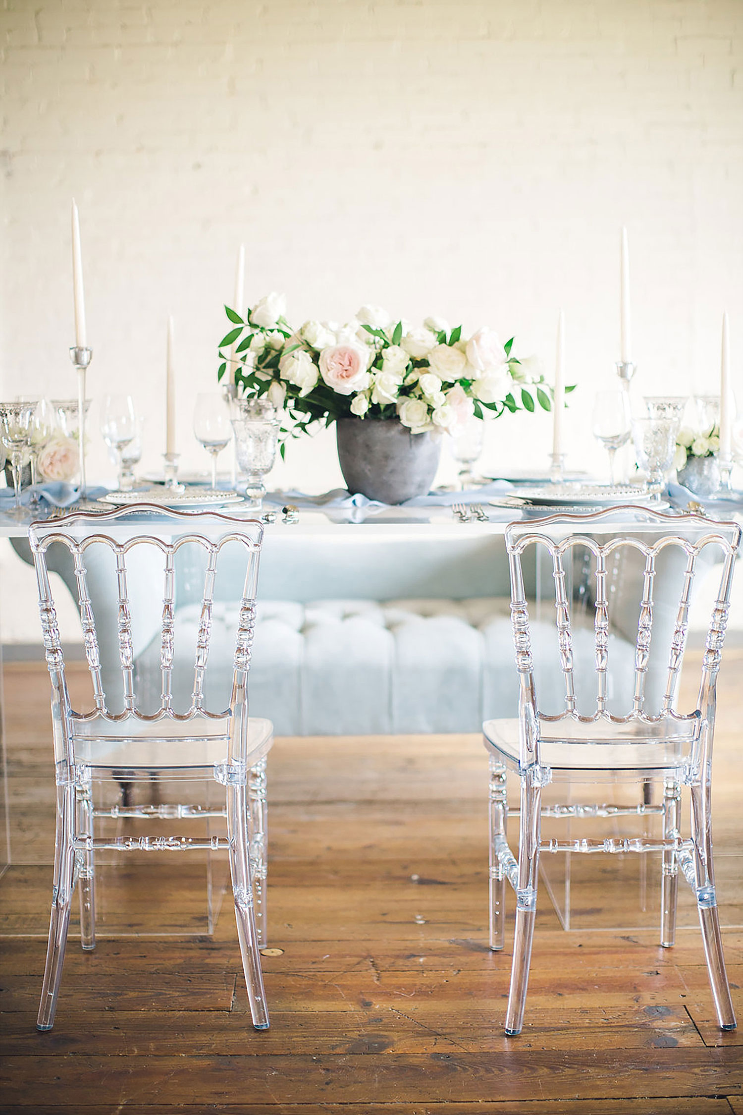 Acrylic tablescape in Brides of North Texas Magazine