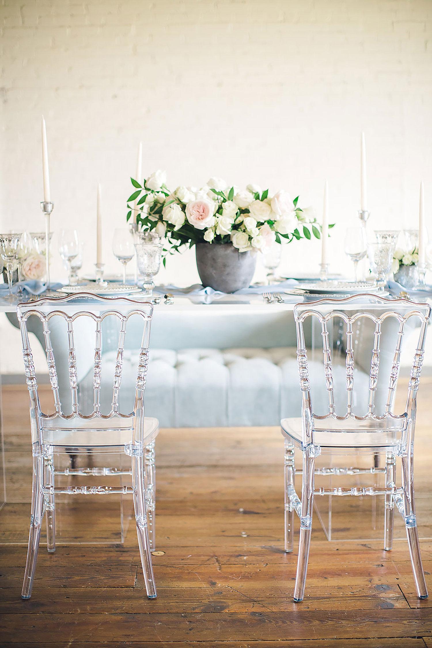 Acrylic tablescape in Brides of North Texas Magazine