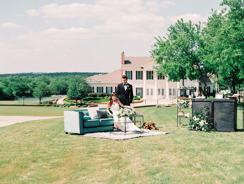 Brides of North Texas Cigar Lounge styled shoot at the Mileston in Denton TX