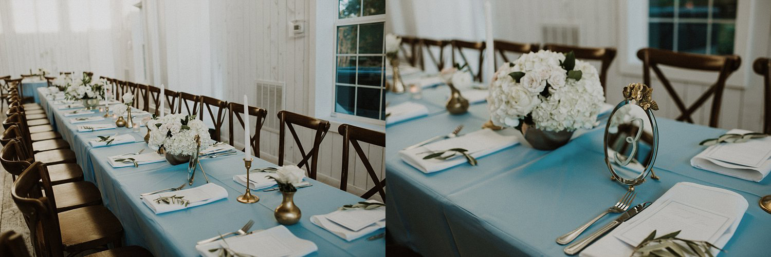 Rectangle tables at White Sparrow Barn