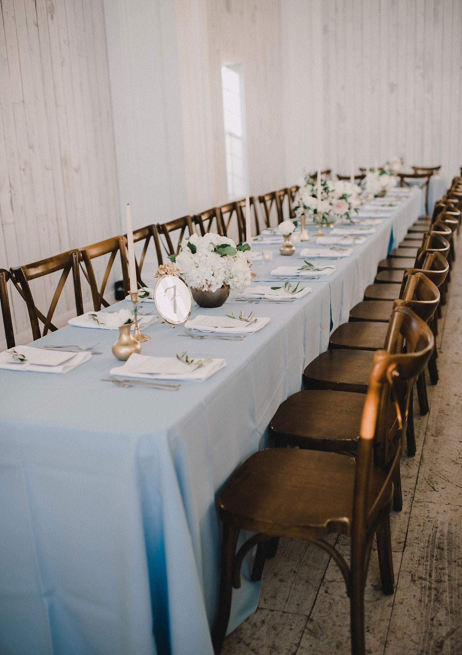 Long rectangle table with tapered candles