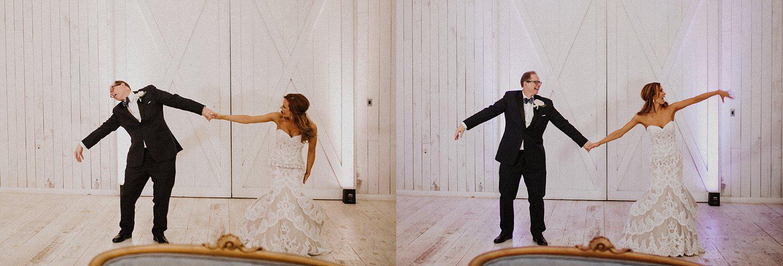 Bride and dad dancing at wedding
