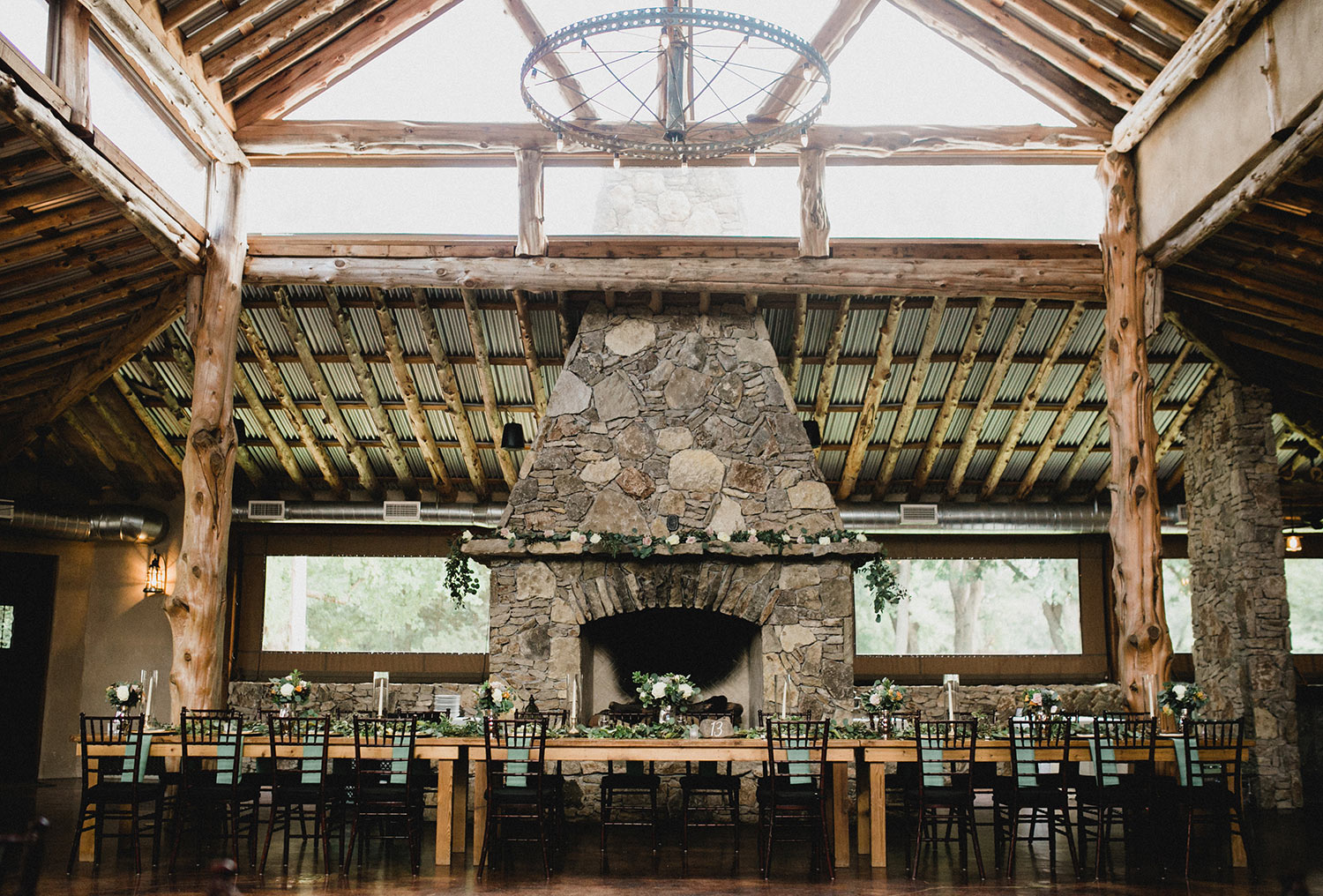 Fort Worth wedding venue Brooks at Weatherford event venue stone fireplace
