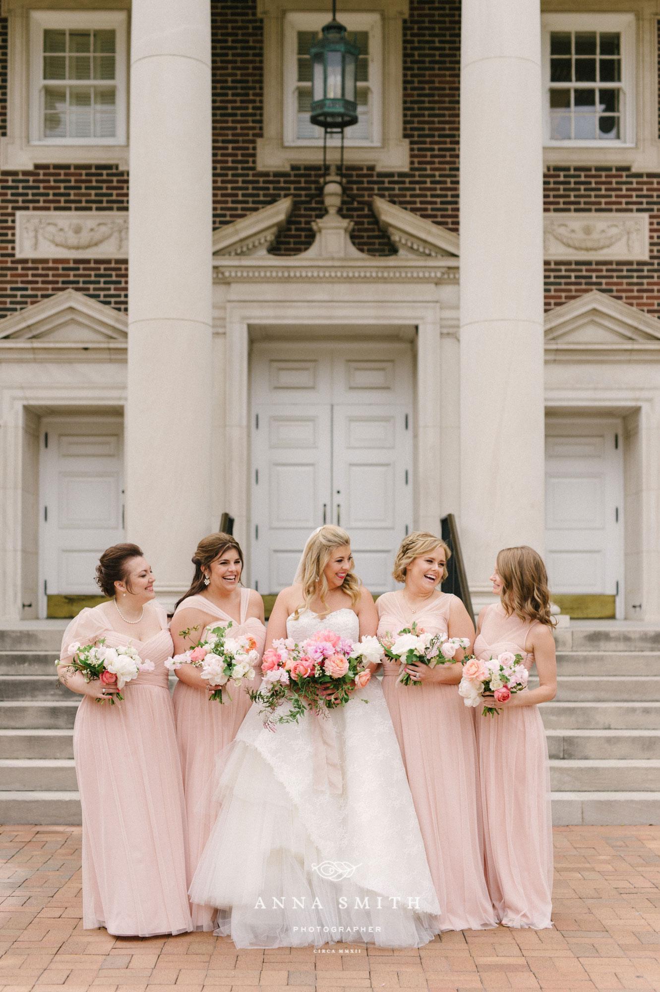 Perkins Chapel wedding with Blush bridesmaid Dresses
