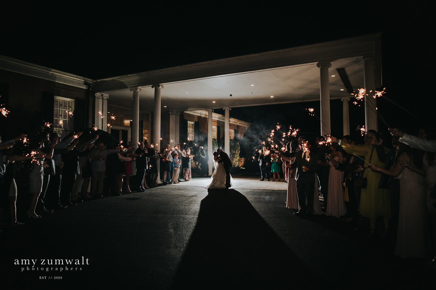 dark sparkler exit at country club in tyler texas