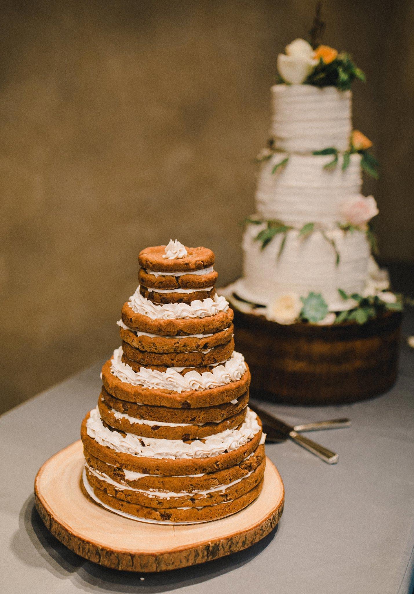 Layered cookie cake groom's cake