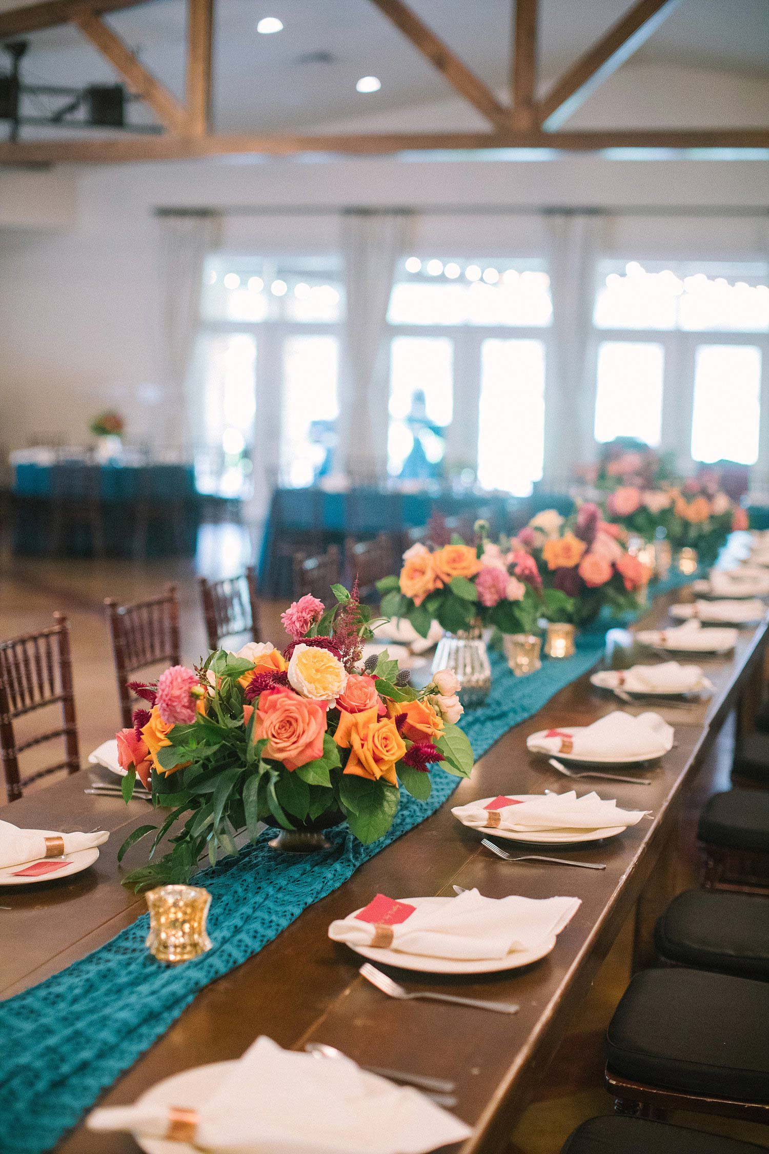 Farm table head table at the orchard in azle