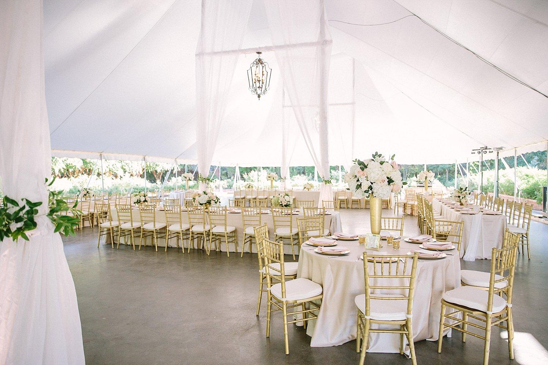 Fort Worth wedding tented reception