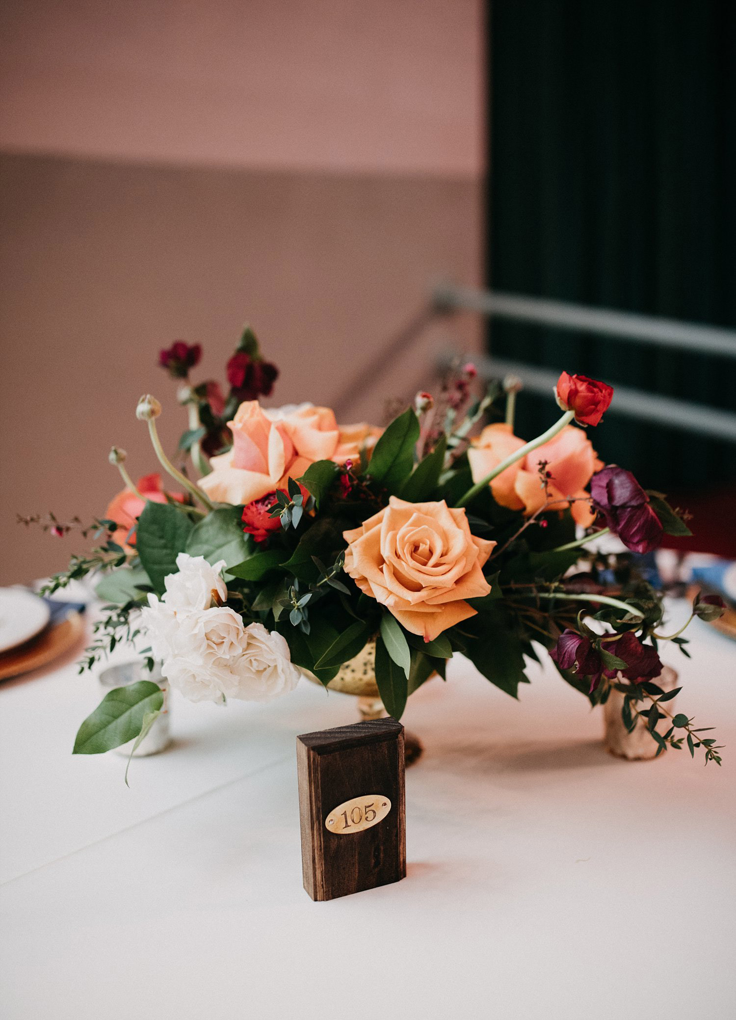 Room number table numbers wedding