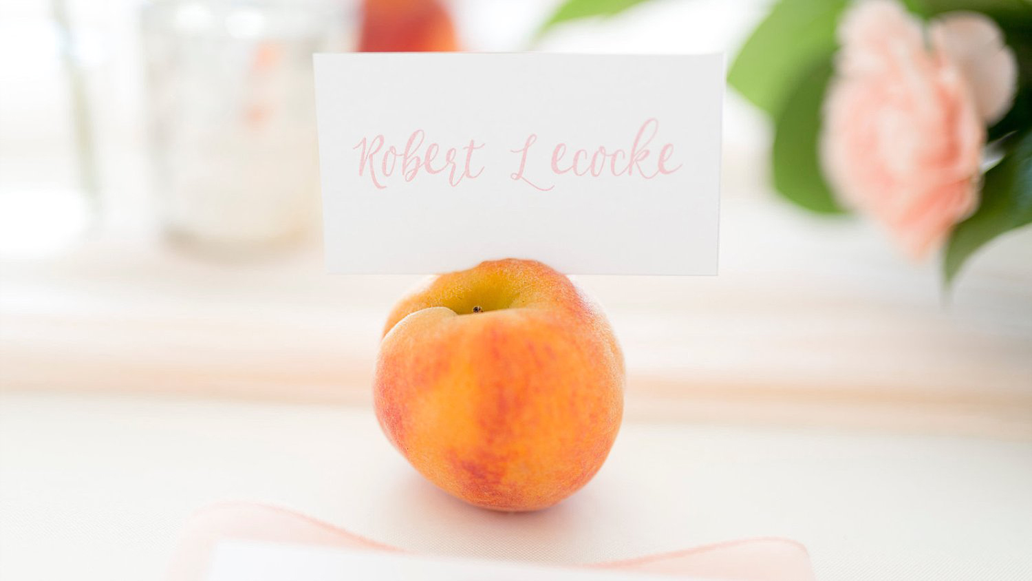 Peach escort card